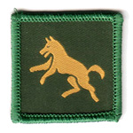 BPSA Leaping Wolf Badge